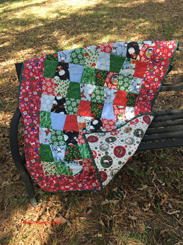Picture of Cup of Christmas Cheer Quilt with Backing