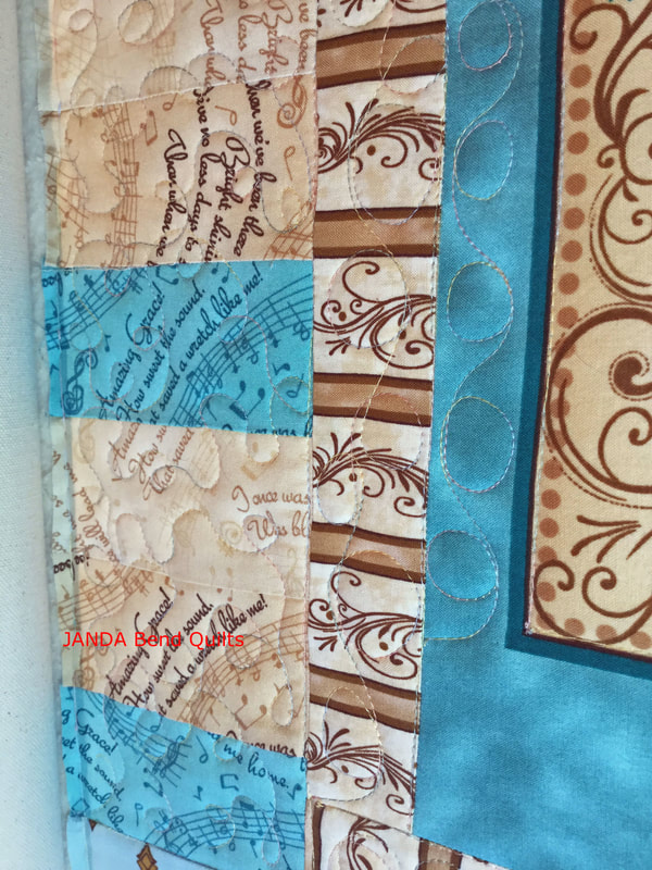 Picture of Quilting on the Second and Third Borders