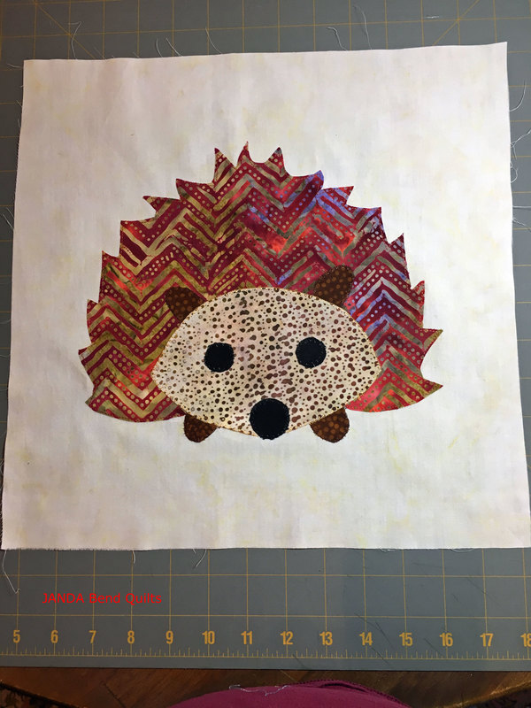 Picture of my completed Hedgehog Block