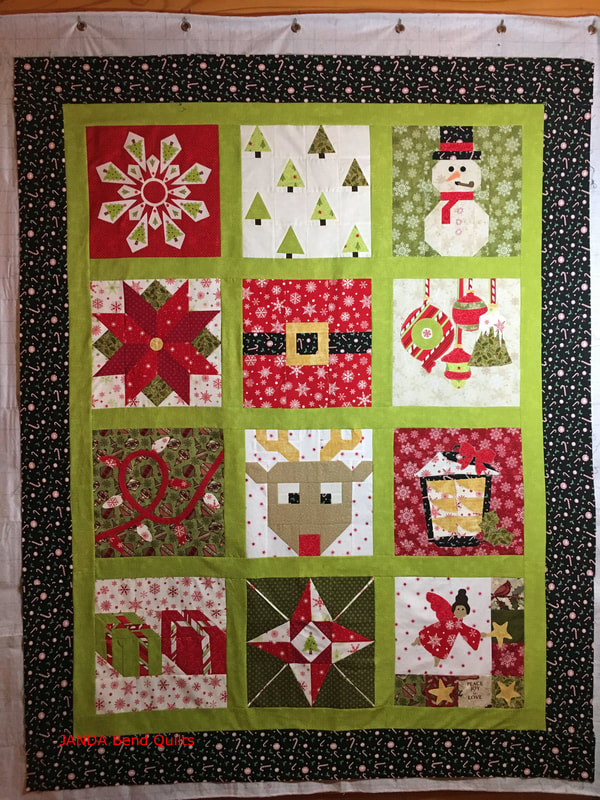 Picture of Completed I Wish You a Merry QAL Quilt Top