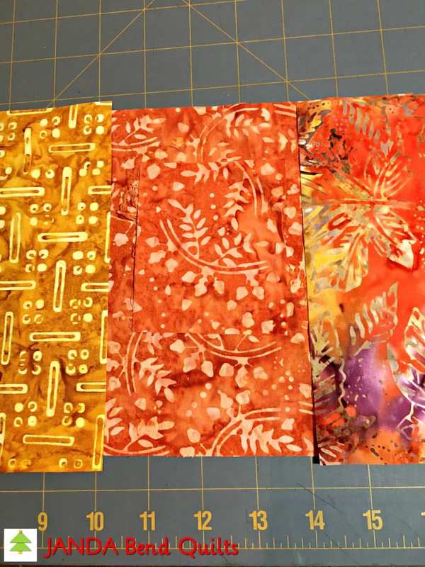 Picture of Cut Orange Fabrics