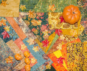 Picture of Pumpkin Patch Fabric by Island Batik