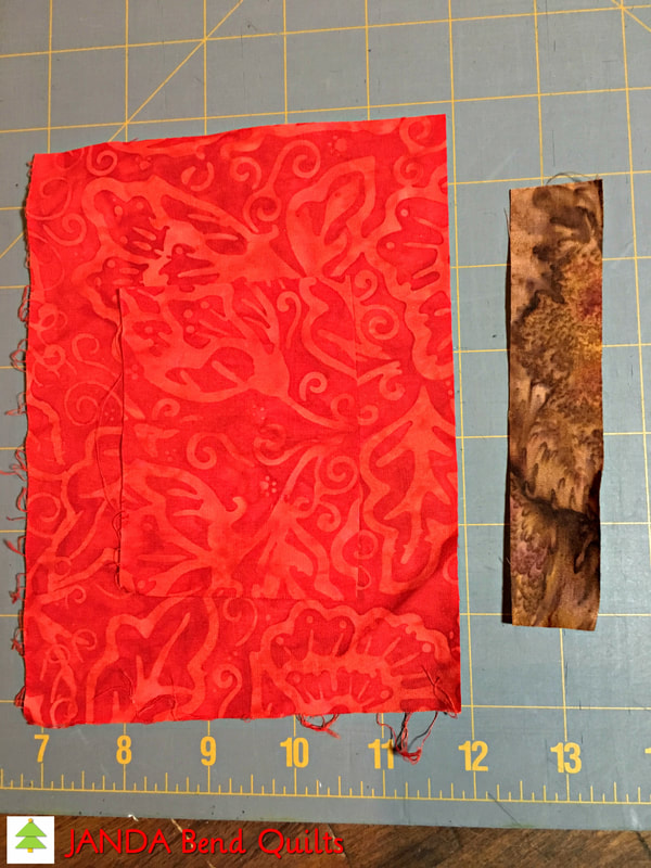 Picture of Cut Red and Brown Fabrics