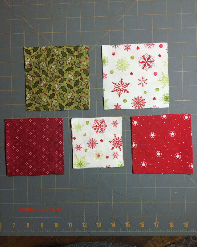 Picture of Fabric Cut into Squares