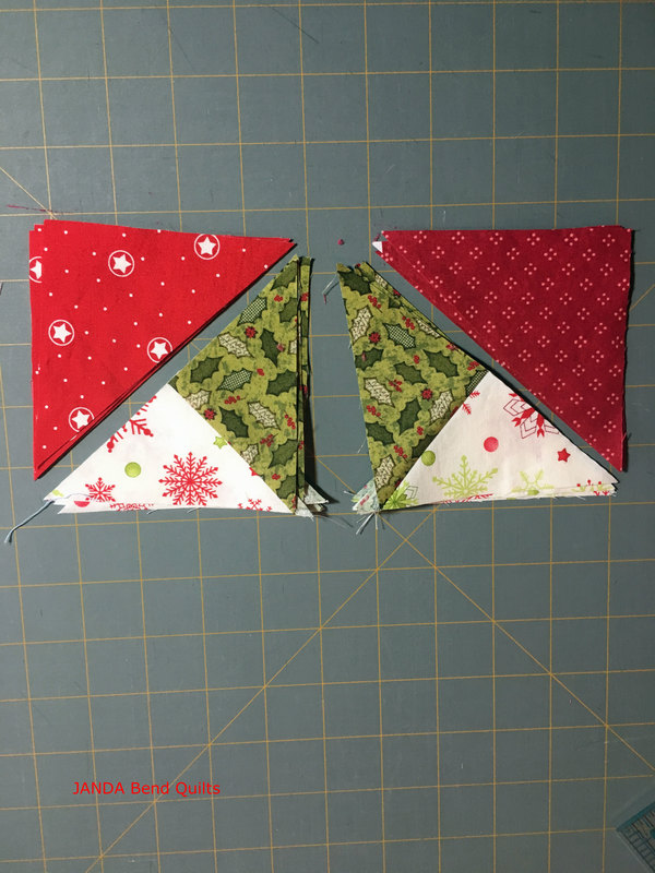 Picture of Sewing Triangles Together