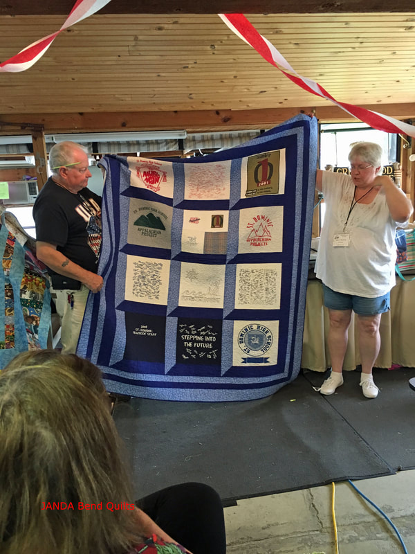 Picture of T-Shirt Quilt with Attic Windows